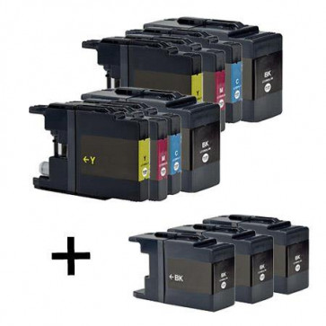 11 Multipack Brother other LC1240 BK/C/M/Y High Quality Compatible Ink Cartridges. Includes 5 Black, 2 Cyan, 2 Magenta, 2 Yellow