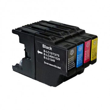 4 Multipack Brother other LC1240 BK/C/M/Y High Quality Compatible Ink Cartridges. Includes 1 Black, 1 Cyan, 1 Magenta, 1 Yellow