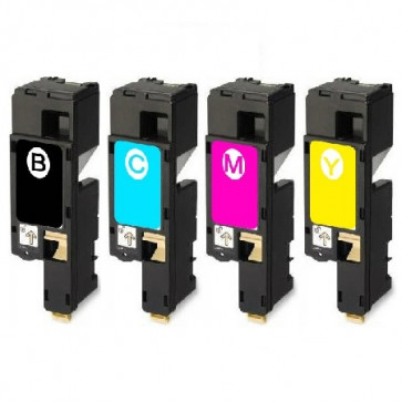4 Multipack Dell 593-11140-43 BK/C/M/Y High Quality Remanufactured Laser Toners. Includes 1 Black, 1 Cyan, 1 Magenta, 1 Yellow