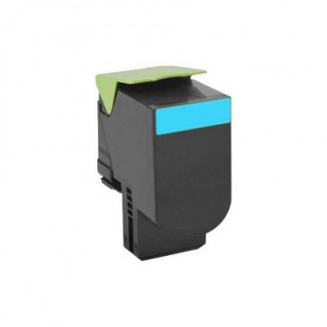 Lexmark 80C2HC0 Cyan, High Yield Remanufactured Laser Toner