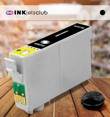 Epson T0611 (C13T06114010) Black, High Quality Remanufactured Ink Cartridge