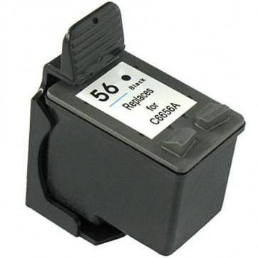 HP 56 (C6656AE) Black, High Quality Remanufactured Ink Cartridge