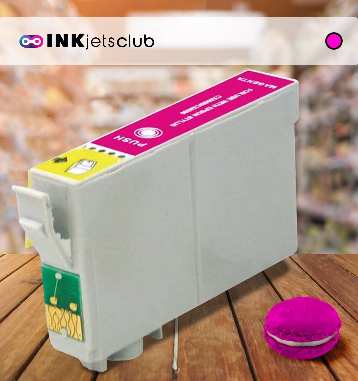 Epson T0803 (C13T08034011) Magenta, High Quality Remanufactured Ink Cartridge