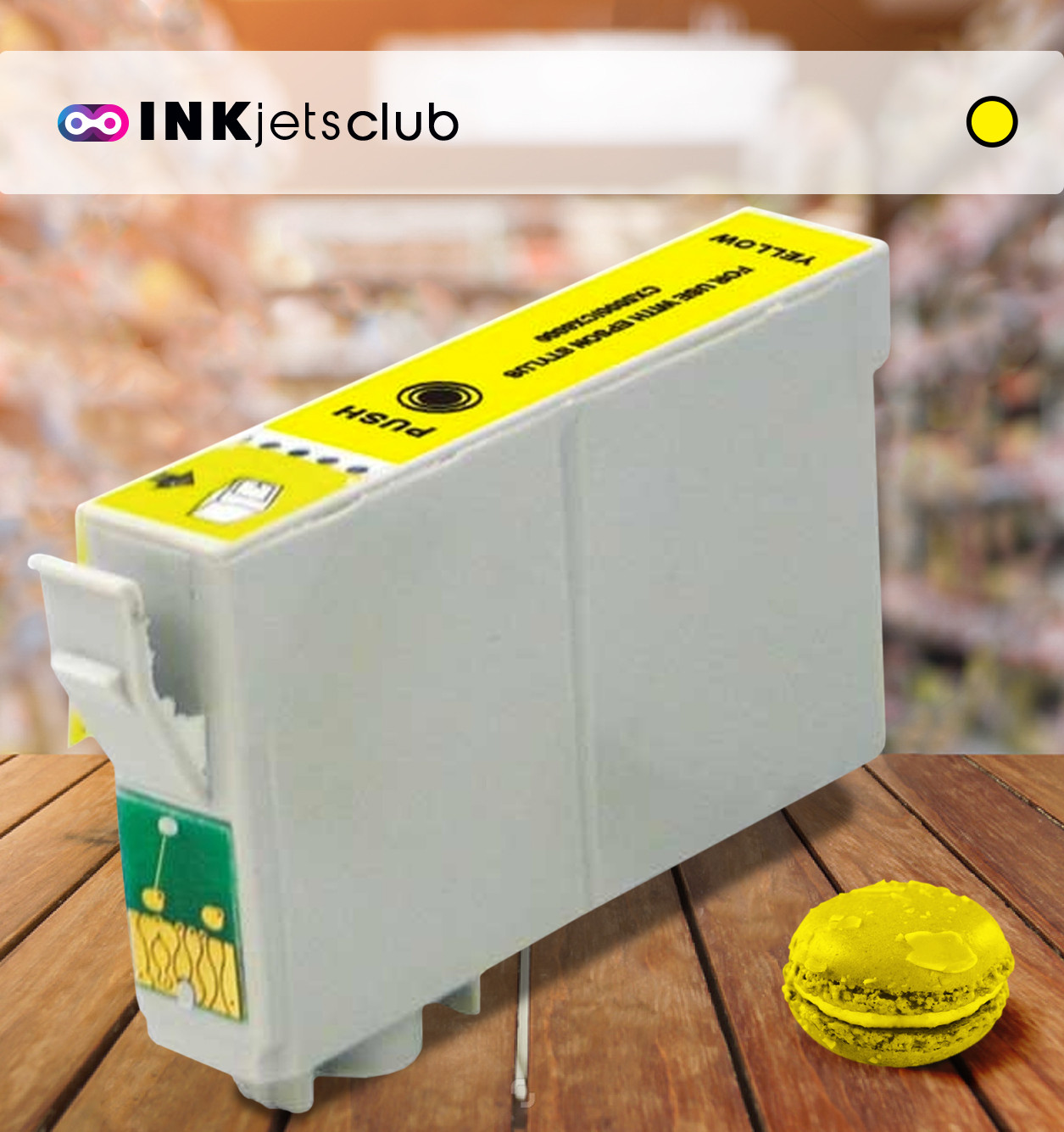 Epson T0804 (C13T08044011) Yellow, High Quality Remanufactured Ink Cartridge