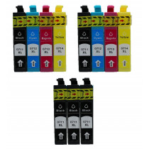 11 Multipack Epson T0715 BK/C/M/Y High Quality Remanufactured Ink Cartridges. Includes 5 Black, 2 Cyan, 2 Magenta, 2 Yellow