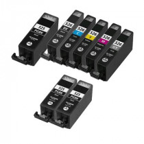 8 Multipack Canon PGI-525 BK & CLI-526 BK/C/M/Y/GY High Quality Compatible Ink Cartridges. Includes 3 Photo Black, 1 Black, 1 Cyan, 1 Magenta, 1 Yellow, 1 Grey