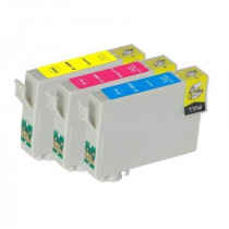 3 Multipack Epson T1006 C/M/Y High Quality Remanufactured Ink Cartridges. Includes 1 Cyan, 1 Magenta, 1 Yellow