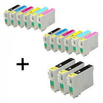 15 Multipack Epson T0791/2/3/4/5/6 High Quality Remanufactured Ink Cartridges. Includes 5 Black, 2 Cyan, 2 Magenta, 2 Yellow, 2 Light Cyan, 2 Light Magenta