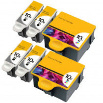 6 Multipack Kodak 10 XL High Yield Compatible Ink Cartridges (8955916/1967082). Includes 4 Black, 2 Colour