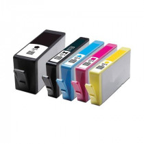 5 Multipack HP 364XL BK/C/M/Y/PBK High Yield Remanufactured Ink Cartridges. Includes 1 Photo Black, 1 Black, 1 Cyan, 1 Magenta, 1 Yellow