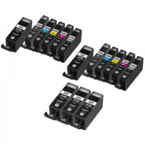 15 Multipack Canon PGI 525 BK & CLI 526 Ink Cartridges. Includes 5 Photo Black, 2 Black, 2 Cyan, 2 Magenta, 2 Yellow, 2 Grey High Quality Compatible Ink Cartridges