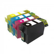 4 Multipack Epson T1301-4 BK/C/M/Y High Quality Remanufactured Ink Cartridges. Includes 1 Black, 1 Cyan, 1 Magenta, 1 Yellow