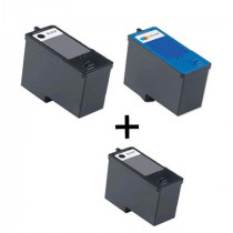 3 Multipack Dell Series 5 (J5566/J5567) High Quality Remanufactured Ink Cartridges. Includes 2 Black, 1 Colour