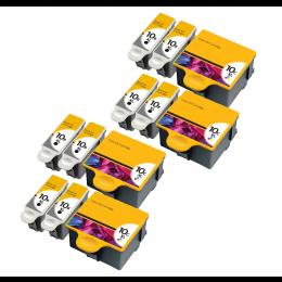 12 Multipack Kodak 10 XL High Yield Compatible Ink Cartridges. Includes 8 Black, 4 Colour