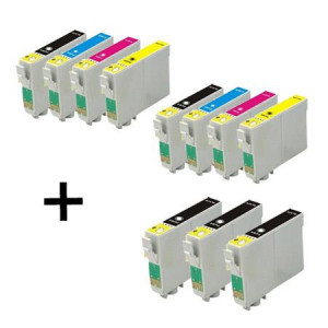 11 Multipack Epson T1301-4 BK/C/M/Y High Quality Remanufactured Ink Cartridges. Includes 5 Black, 2 Cyan, 2 Magenta, 2 Yellow