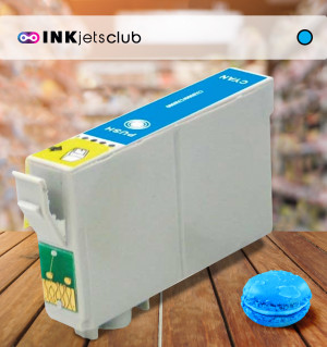 Epson T0802 (C13T08024011) Cyan, High Quality Remanufactured Ink Cartridge