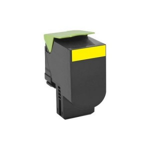 Lexmark 80C2HY0 Yellow, High Yield Remanufactured Laser Toner